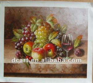 Beautiful fruit still life canvas wall art painting