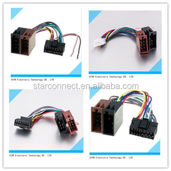 suitable jvc sony with car iso connector electric automotive audio rh alibaba com Custom Automotive Wiring Harness Kits Painless Wiring Harness Kit