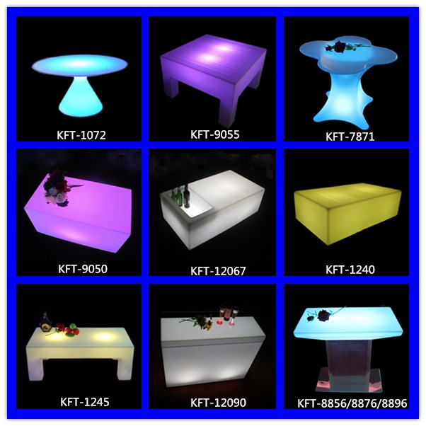 Remote Control Cuboid Shape Flashing Tables Led Light Bar ...