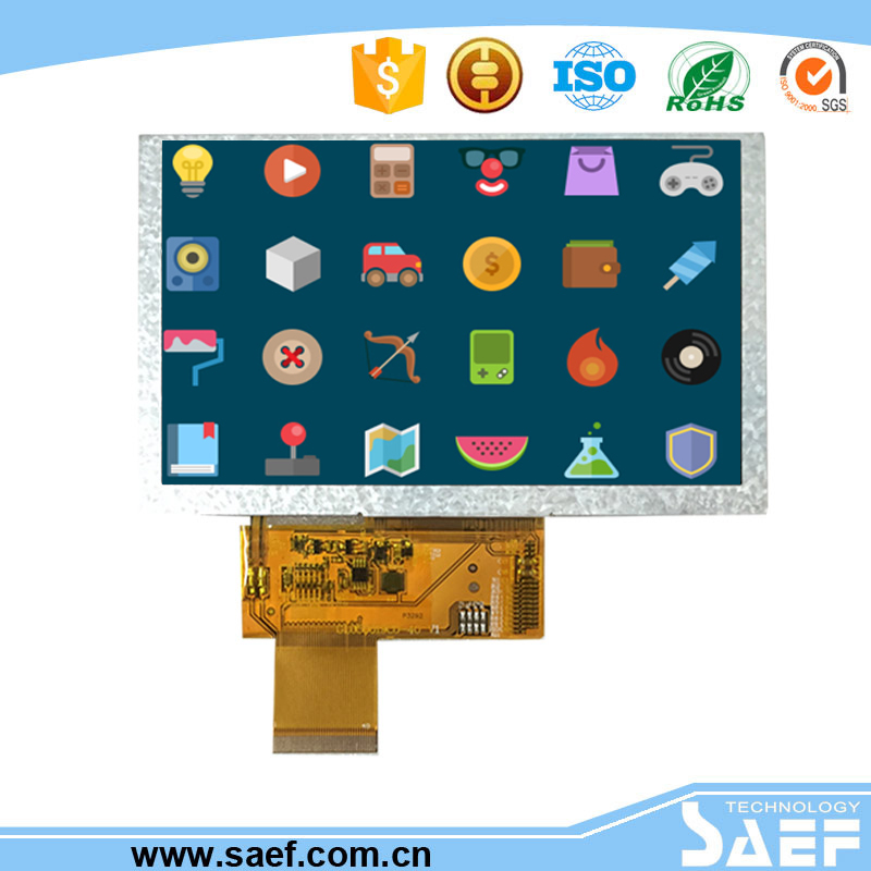 5 inch lcd capacitive touchscreen module with 800*480 lcd module hdmi transparent lcd module