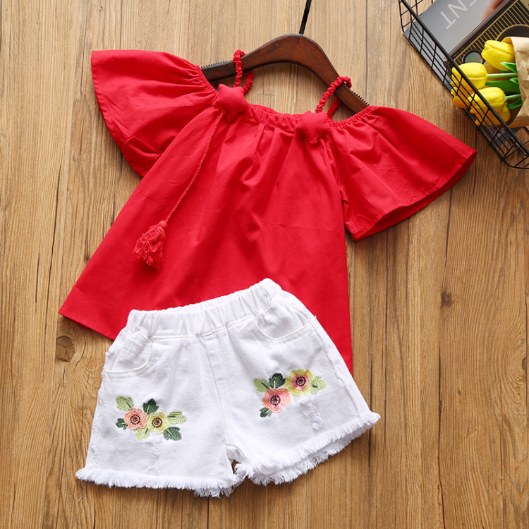 Hao Baby 2018 Children In Shorts Edition Children's T-Shirts Children's Wear Two-Piece Outfit