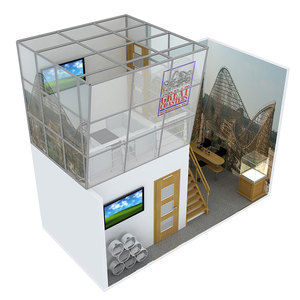 Commercial fair china aluminium exhibition trade show booth stall design and building