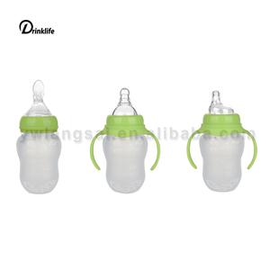 Baby silicone Squeeze Feeding Bottle Latest Infant Food Feeder Squeezing Baby Spoon