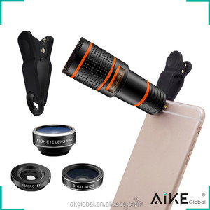 New Products 2018 Cell Phone Camera Zoom 12x Telescope 4 in 1 Lens Kit for smartphone android samsung