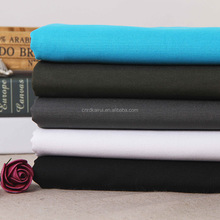 T/C stretch woven fabric plain weave dyed 80 cotton 20 polyester stretch fabric knit jersey fabric for t shirt