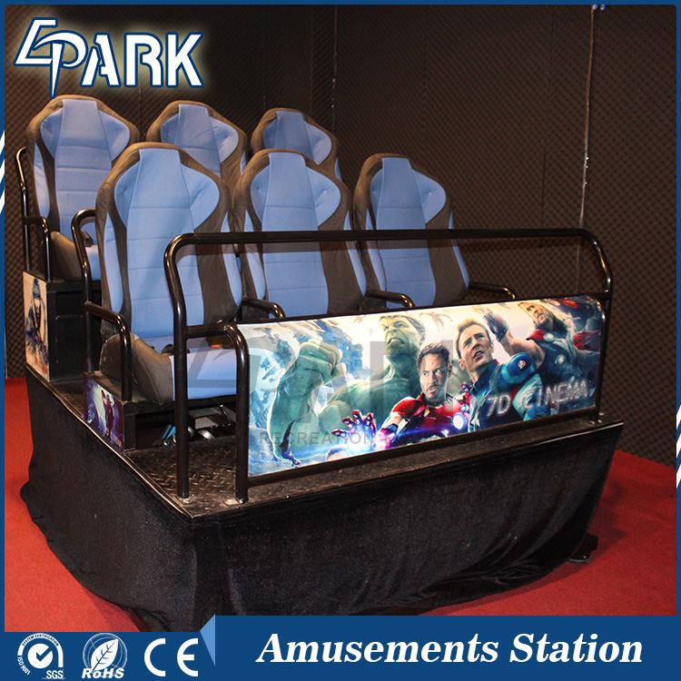 Favorable 5d theatre simulation equipment motion chair for sale