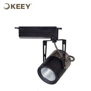 KEEY 13W 20W 30W Led Cob Track Light CRI80 Black Color Professional Indoor Lighting QYS3-DG505C