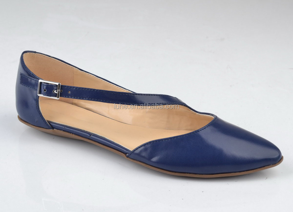 2015 New Design Ladies Flat Mary Jane Shoes