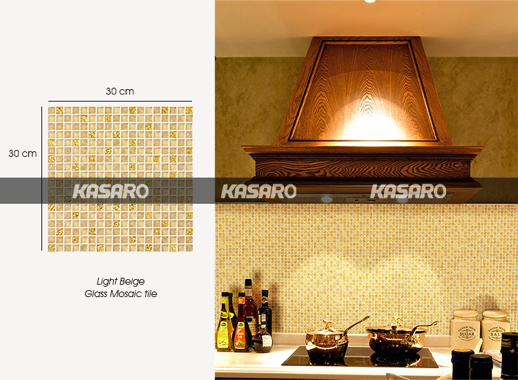 Keuken Tegels Mozaiek : Hot koop keuken backsplash tegel goud kleur glas mozaïek tegel
