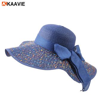 Custom Wide Brim Lady Floppy Paper Straw Beach Hat - Buy Woven Paper ... 5945ec8bd421