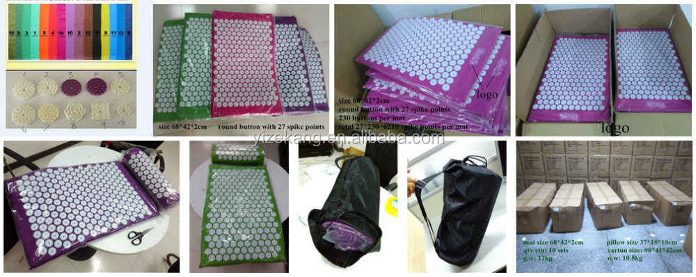 High Quality Acupressure Set,Mat And Pillow Neck/back Massage With ...