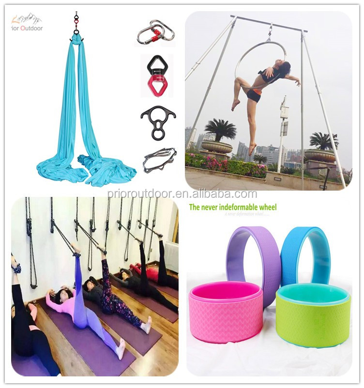 Yoga Hammock Aerial Kit- Studio Quality Flying Silk -FABRIC ONLY (See 20 Fabric colours)