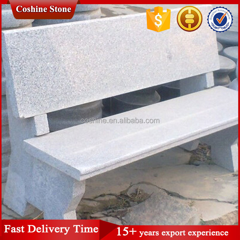granito gris piedra banco del parque al aire libre silla de jardn