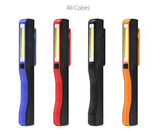 Super Deal 2 in 1 USB Rechargeable Portable Lightweight COB LED Camping Work Inspection Light Lamp Pen Light Hand Torch