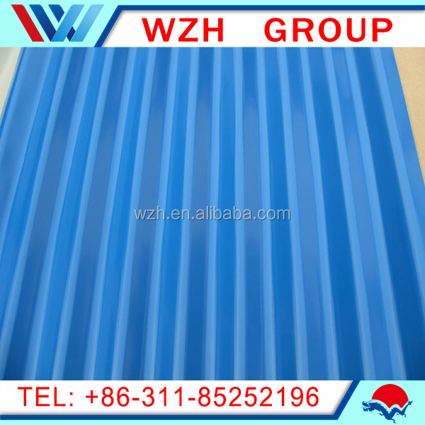corrugated gi steel roof sheet for tile /color steel sheet ship from China to Latin America