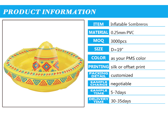 Make a statement and take the ultimate siesta with this Inflatable Sombrero  blocking the sun. Measuring a whopping 19 inches in diameter 7475c555c250