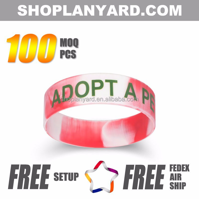 houston wristband silicone bracelet no minimum order