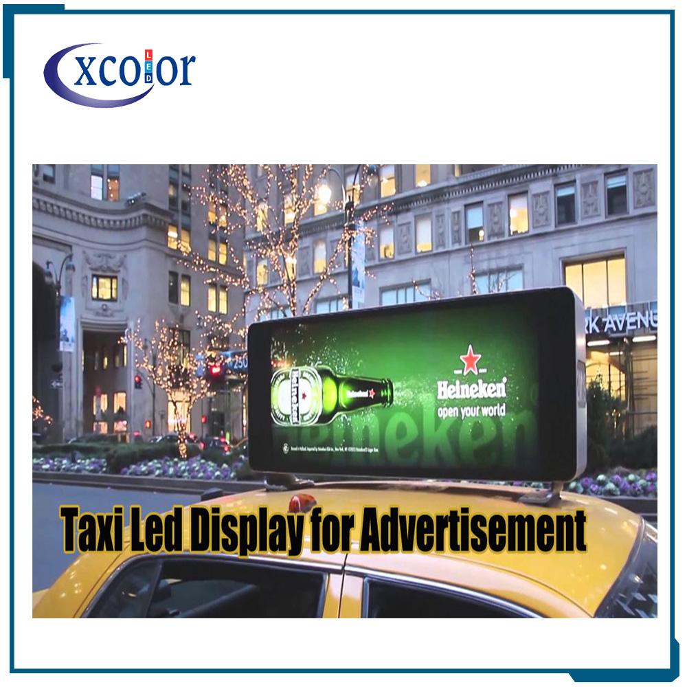 CXCOLOR शेन्ज़ेन निर्माता कार P5 एलईडी टैक्सी छत के ऊपर विज्ञापन साइन