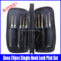 24pcs Single Hook Lock Pick Set Locksmith Tools Lock Pick Kit goso locksmith tools