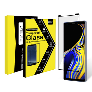 High clear case friendly 3d 9h anti oil tempered glass for Samsung Galaxy Note 9 cellphone screen protector