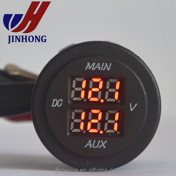 Led Digital Dual Battery System Monitor 12 Volt Twin Display Volt Meter  Gauge - Buy Twin Display Volt Meter,Display Volt Meter 12v,12 Volt Twin