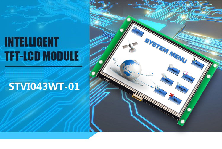 4.3 inch tft lcd touch display with GUI design software