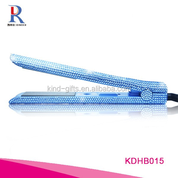 Luxurious Rhinestone hair straightener crystal flat iron