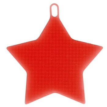 Star Shaped Multi Purpose Dish Washing Brush Silicone Sponge Scrubber Heat Insulation Pad