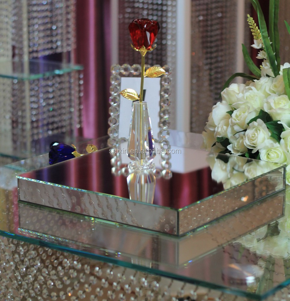 Beautiful Glass Mirror Box For Wedding Decor Buy Beveled Mirror