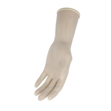 High quality straight finger powder free long sterile latex gynecological gloves