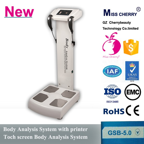 GSB-5.0 TOUCH SCREEN BODY COMPOSITION ANALYSIS MACHINE WHOLE BODY ANALYZER MACHINE WITH PRINTER