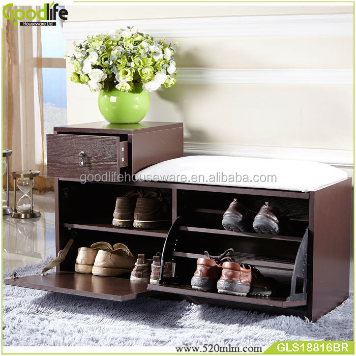 Wooden Shoe Cabinet With Seat For Entryway - Buy Shoe Cabinet With ...