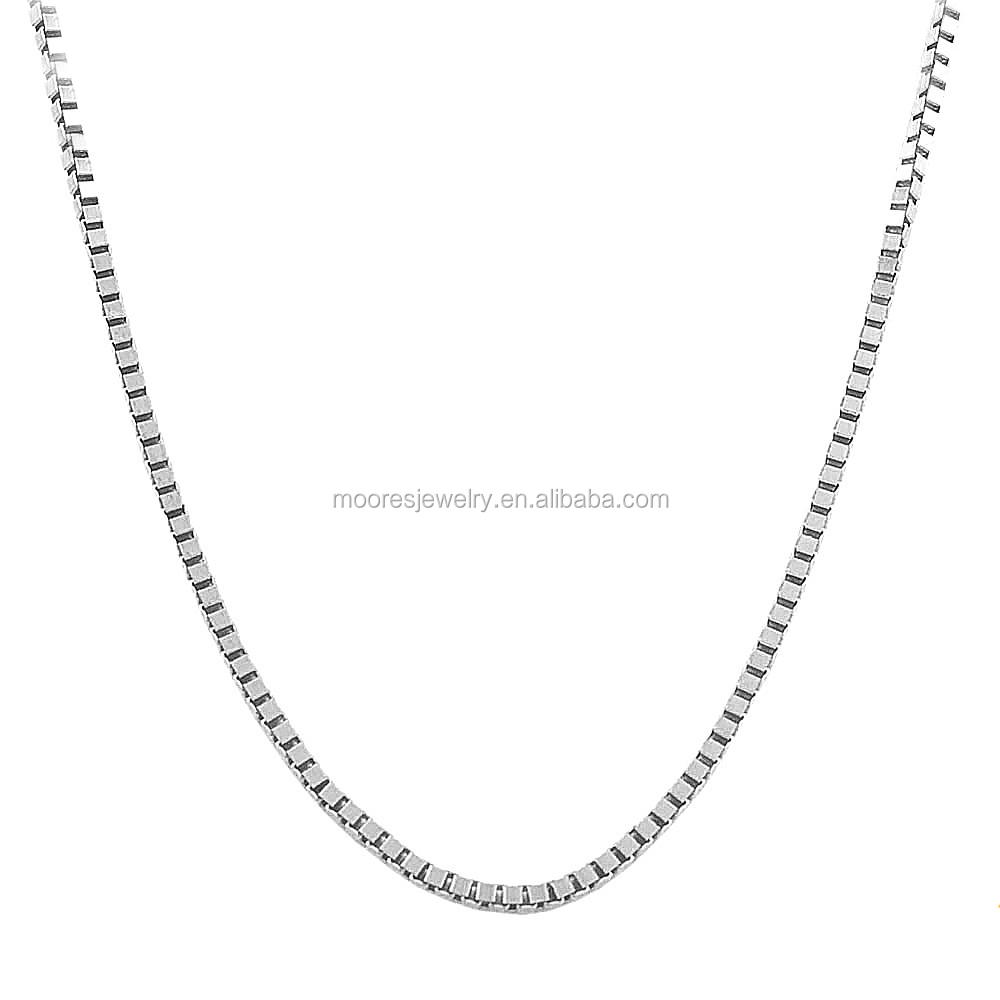 dbfdfe036157 Barato al por mayor cadena base de Plata de Ley 925 joyas de plata collar de