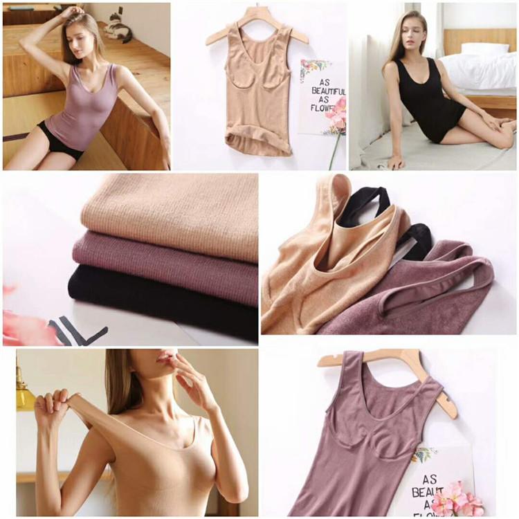 2018 Autumn And Winter Women Soft Plus Velvet Thick Body Shaping Warm Vest