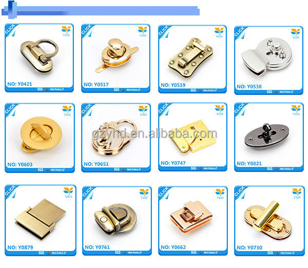 OEM best sale fashion leather bag gold metal accessories for bag