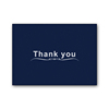 Wholesale 100 Pack 4x6 Inch Gold Foil Black Paper Custom Floral Thank You Cards With Black Envelope