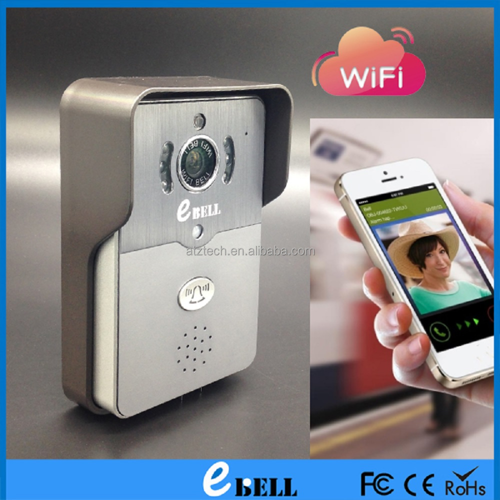 ATZ eBELL HD 720P IP Video Door bell with Message Push and Full Duplex Audio Support Automatic Open Door Lock with APP