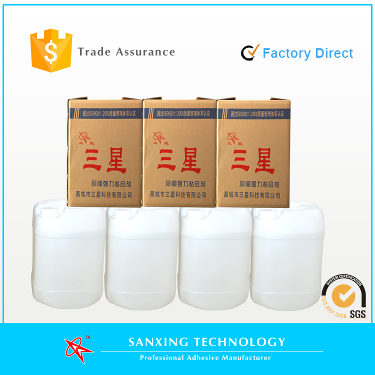 General multi-purposes 502 cyanoacrylate adhesive super glue in plastic bulk