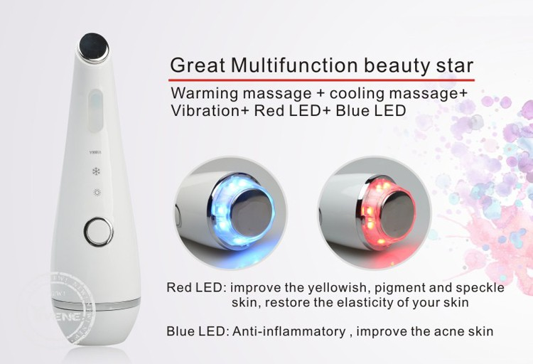 Hot And Cool Face Device Massager Vibration Face Lifting Beauty Device