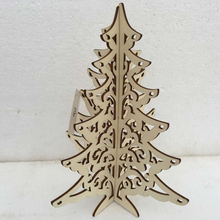 Most popular house decor wooden christmas tree ornament