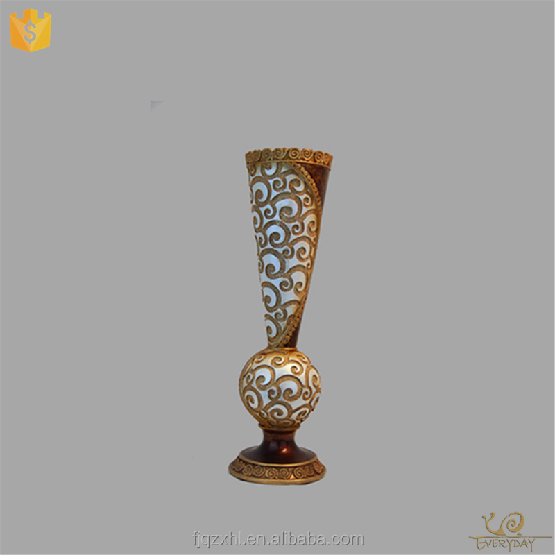 Wholesale OEM The Big Size Resin Tall Centerpiece Flower Vase Home Goods Decorative Vase for Hotels