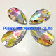168pcs/bag10.5X18MM Angle Teardrop Crystal Sew On Stones Clear AB resin stones flat back sewing- on Crystal Diamond For Wedding