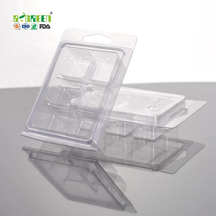 Personalizado 6 Cavidades Clamshell/Embalagem Da Bolha para a Cera Derrete