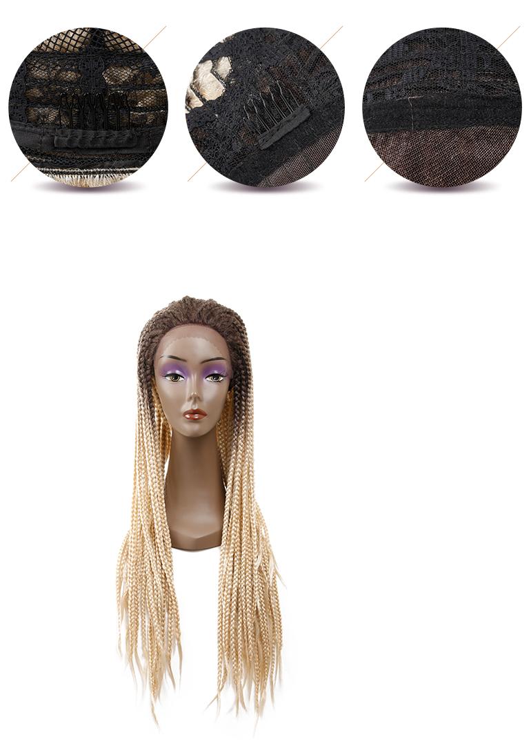 Ombre Color Braid Wig High Density Afro Wig For South