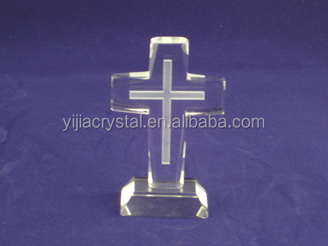 great crystal decorative cross crafts, engravable crystal crosses
