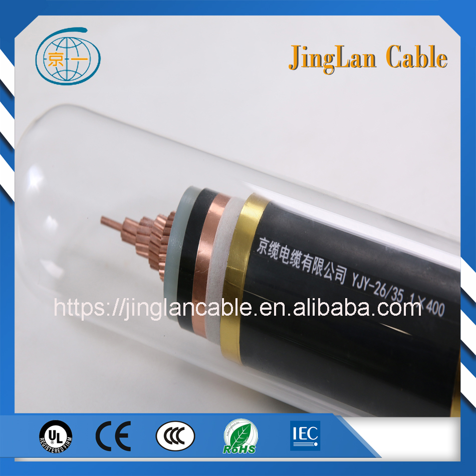 26/35kv 1x400mm2 Single Core Anti-flaming Copper Cable YJY TYPE