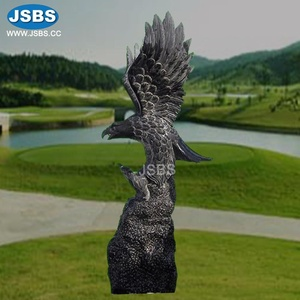 Outdoor Decorative Large Black Polish Eagle Statue For Garden