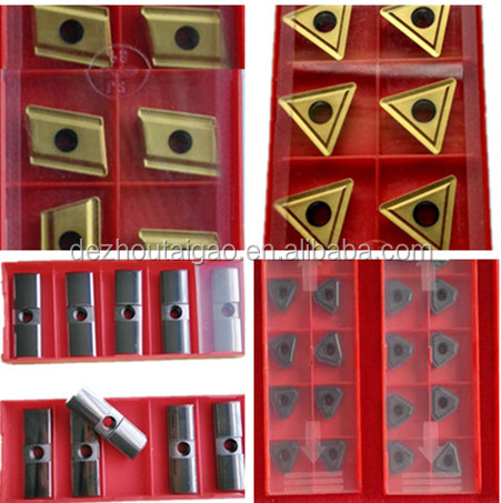 High quality inserts and guide pads for BTA deep hole drill head