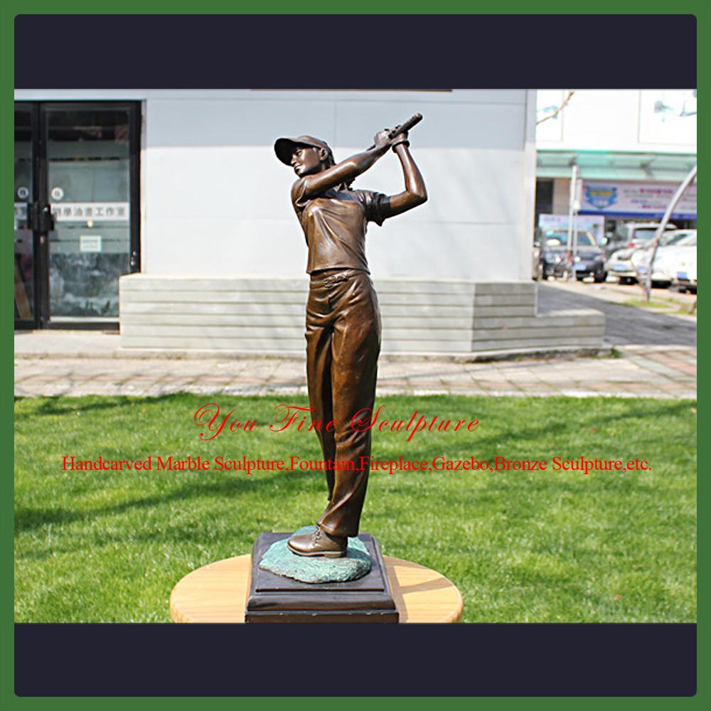 Garden Modern Cast Bronze Golf Statue