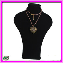 2015 fashion jewelry Vintage Style heart rope statement necklace